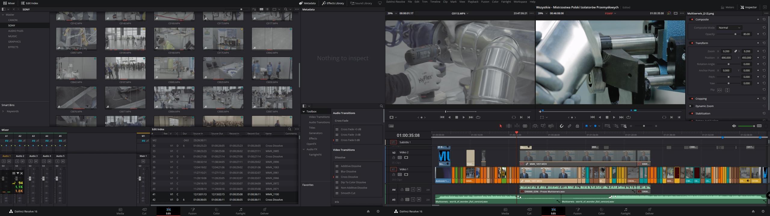 Michał Kokot - IMAGING TECHNICS - nagrywanie, montaż i edycja materiałów video - fotografia i film dla twojego biznesu
